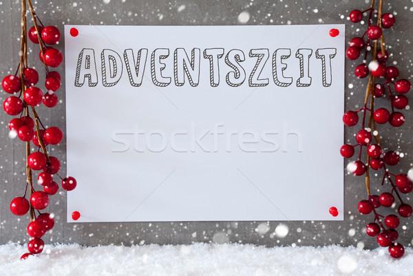 Etiqueta flocos de neve natal decoração advento temporada Foto stock © Nelosa