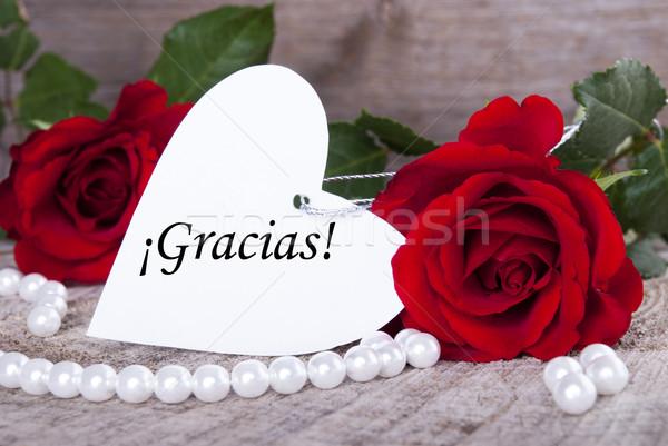 Stock photo: Background with Gracias