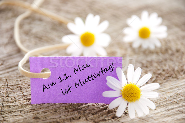 Purple Label with Am 11 Mai ist Muttertag Stock photo © Nelosa