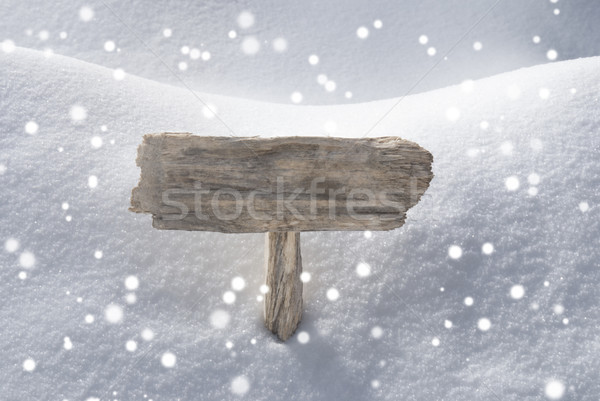 Christmas Sign Snow And Snowflakes Copy Space Stock photo © Nelosa