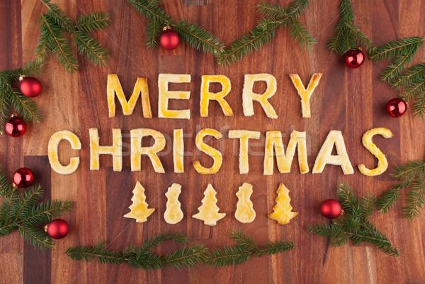 Stok fotoğraf: Neşeli · Noel · kurabiye · sözler · süslemeleri · gıda