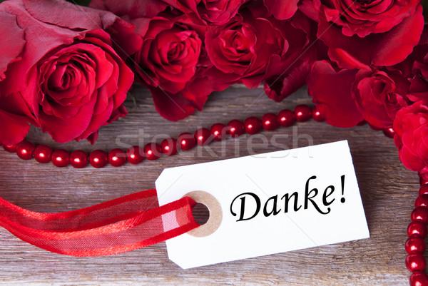 Stock photo: Background with Danke