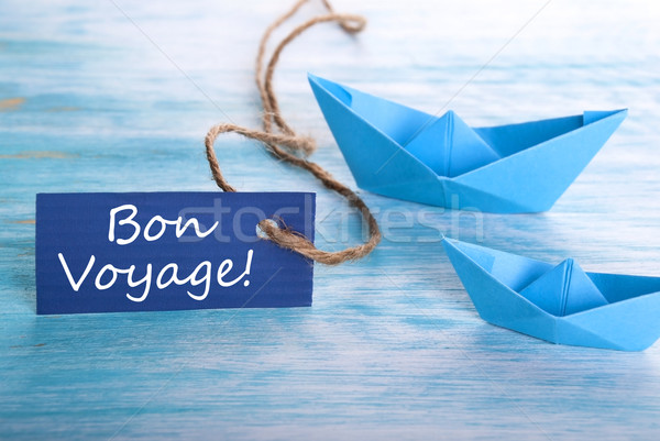 Bon Voyage Label Stock photo © Nelosa