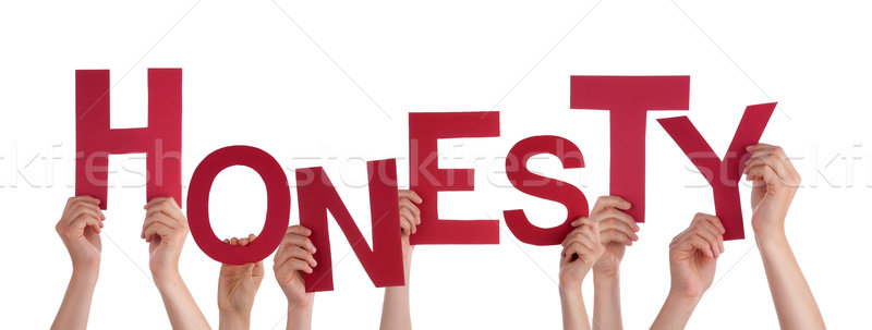Many People Hands Holding Red Word Honesty Stock photo © Nelosa