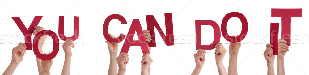 Hands Holding Word You Can Do It  Stock photo © Nelosa
