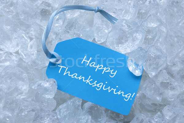 Label On Ice With Happy Thanksgiving Stock photo © Nelosa