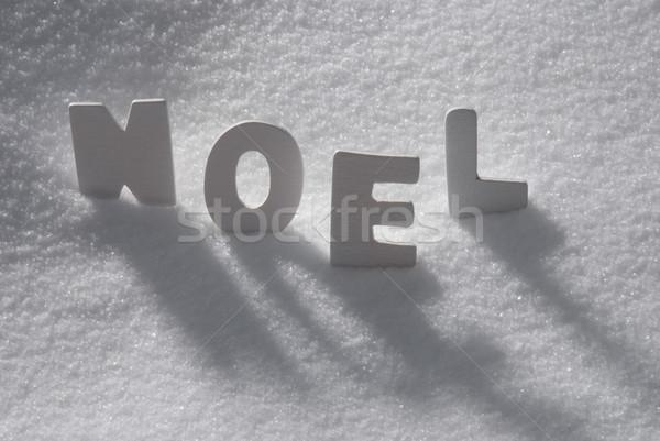 White Word Noel Means Christmas On Snow Stock photo © Nelosa