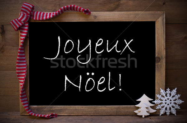 Pizarra decoración alegre Navidad marrón pizarra Foto stock © Nelosa