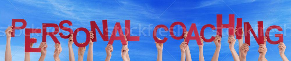多くの 人 手 赤 言葉 ストックフォト © Nelosa