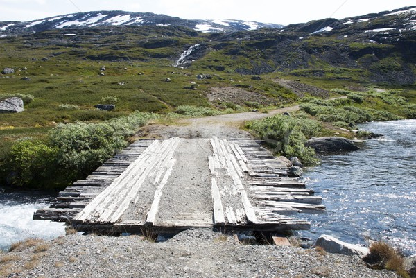 Bridge in the Mountains Stock photo © Nelosa