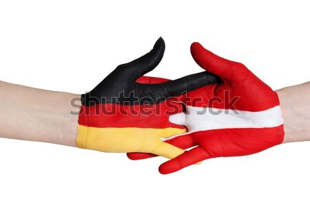 german and austrian handshake Stock photo © Nelosa