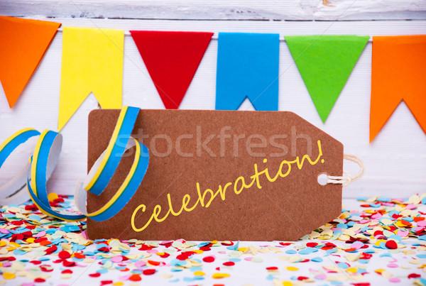 Label With Party Decoration, Text Celebration Stock photo © Nelosa