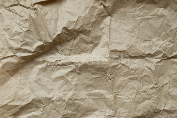 Texture With Brown Crumpled Paper, Background, Copy Space Stock photo © Nelosa