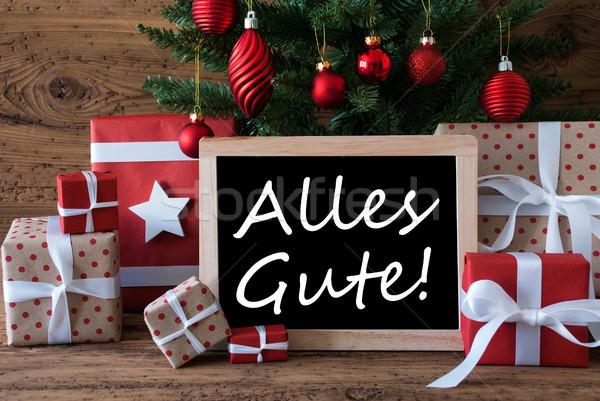 Farbenreich Weihnachtsbaum besten Wünsche Jahreszeiten Stock foto © Nelosa