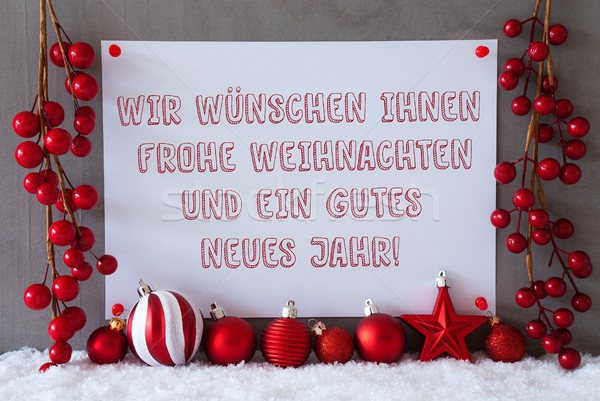 Label, Snow, Christmas Balls, Gutes Neues Means New Year Stock photo © Nelosa