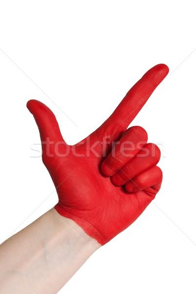 red check gesture Stock photo © Nelosa