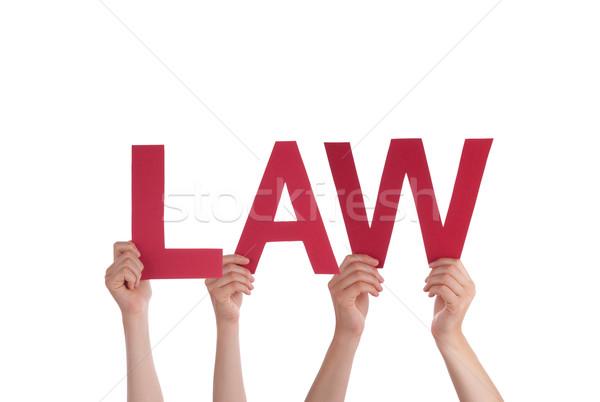 People Holding Law Stock photo © Nelosa