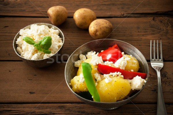 Healthy Food On A Wooden Background Stock photo © Nelosa