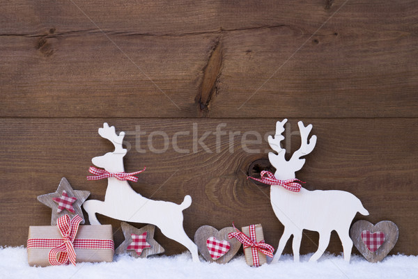 Christmas Decoration, Reindeer Couple In Love Stock photo © Nelosa