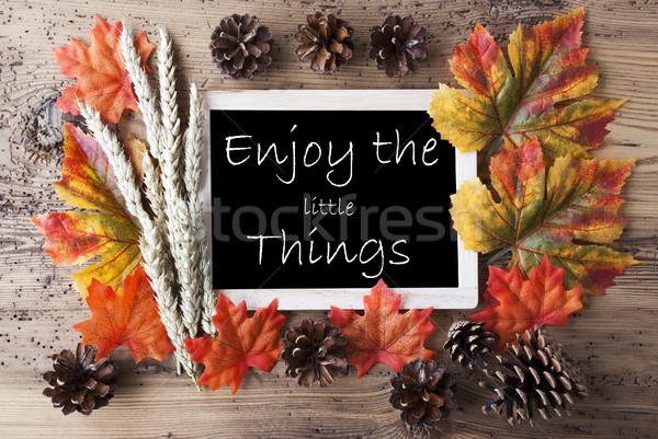доске осень украшение цитировать наслаждаться мало Сток-фото © Nelosa
