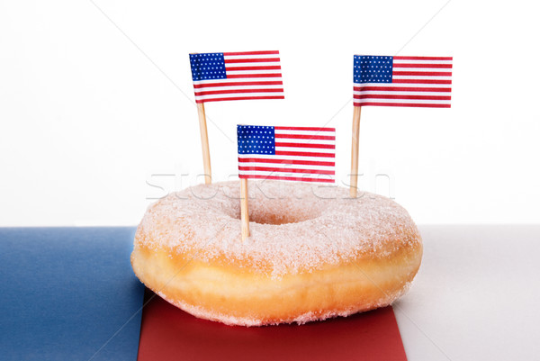 Donut with American Flags Stock photo © Nelosa
