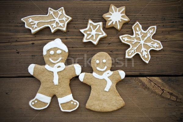 Happy Ginger Bread Couple with Stars Stock photo © Nelosa