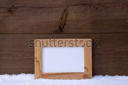 グレー 画像フレーム コピースペース 雪 ブラウン ストックフォト © Nelosa