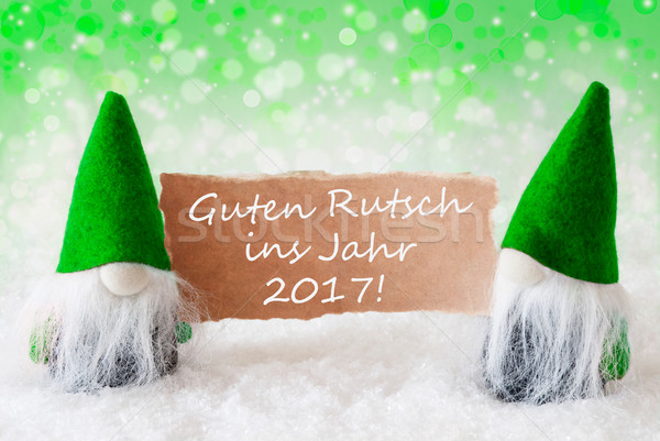Vert naturelles nouvelle année Noël carte de vœux deux Photo stock © Nelosa