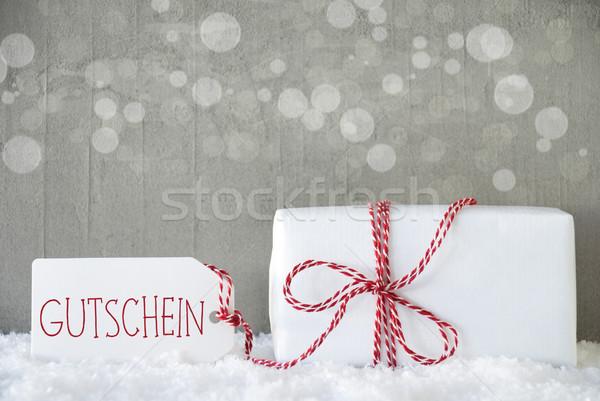 подарок цемент bokeh ваучер один Рождества Сток-фото © Nelosa