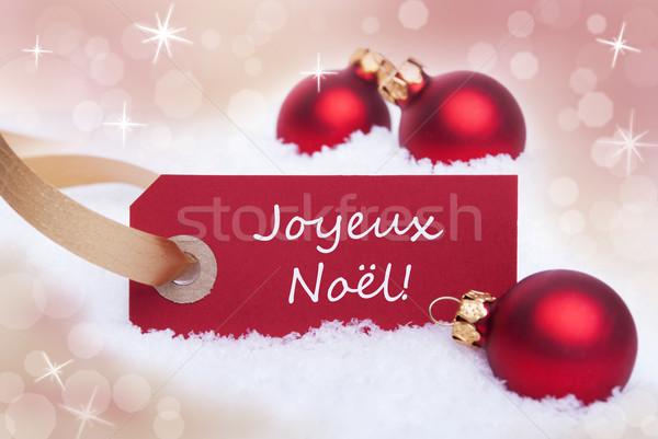 Red Banner With Joyeux Noel Stock photo © Nelosa