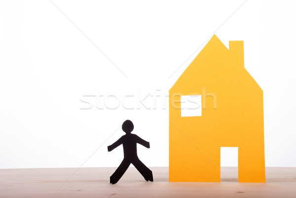 House with a Dark Paper Person Stock photo © Nelosa