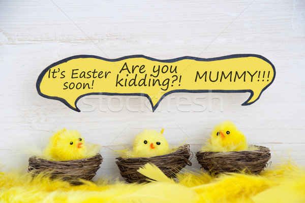Három húsvét képregény szöveglufi vicc Stock fotó © Nelosa