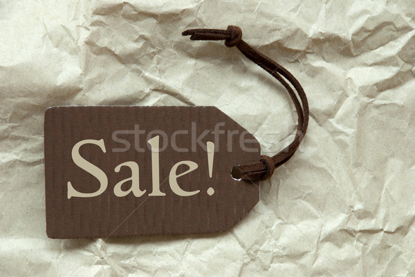Brown Label With Sale Paper Background Stock photo © Nelosa