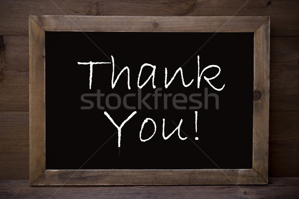 Chalkboard With Thank  You Stock photo © Nelosa
