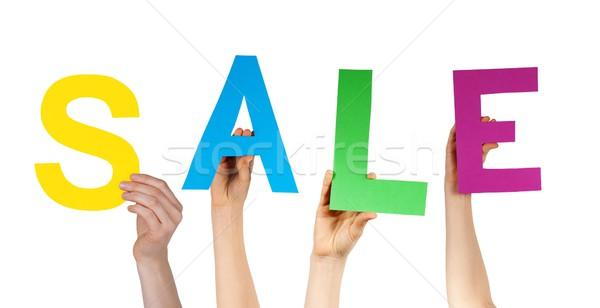 hands holding SALE Stock photo © Nelosa