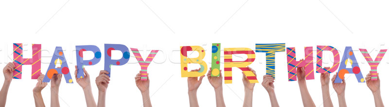People Holding Happy Birthday Stock photo © Nelosa