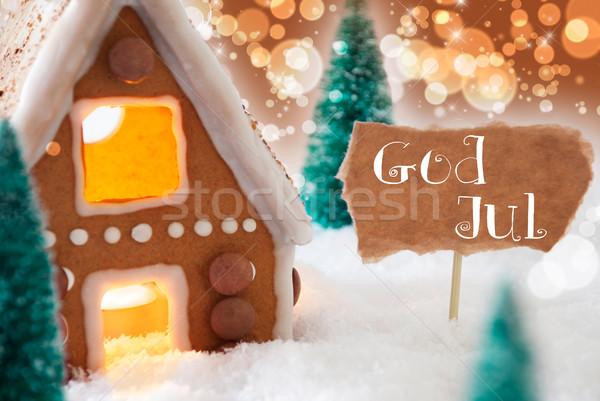 Piernik domu brąz boga wesoły christmas Zdjęcia stock © Nelosa