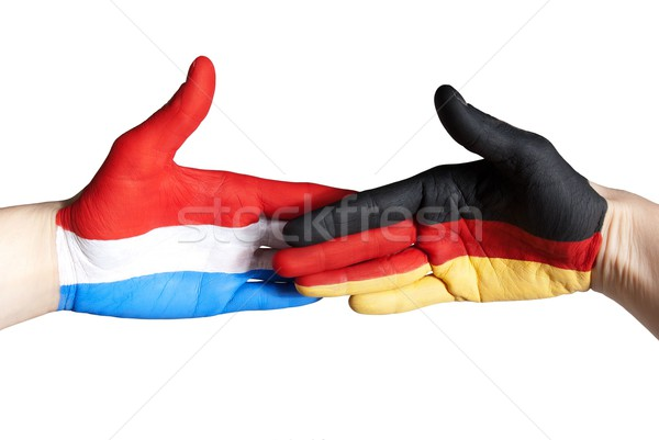 handshake between germany and the netherlands Stock photo © Nelosa