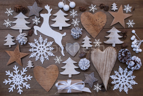 Many Christmas Decoration,Heart,Snowflakes,Tree,Present,Reindeer Stock photo © Nelosa