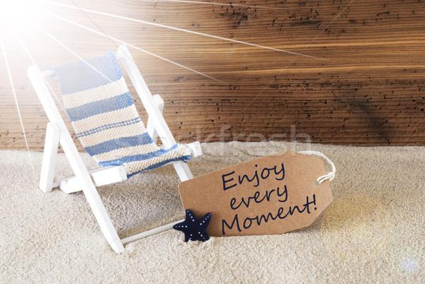 Verano soleado etiqueta citar disfrutar momento Foto stock © Nelosa