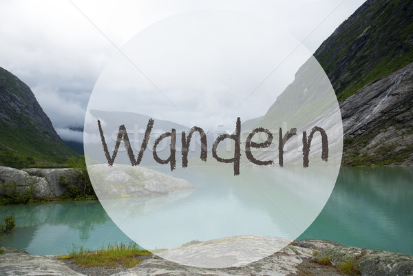 Lake With Mountains, Norway, Wandern Means Hiking Stock photo © Nelosa
