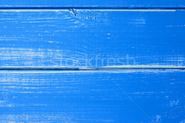 Blue Wooden Slats Background With Copy Space Stock photo © Nelosa