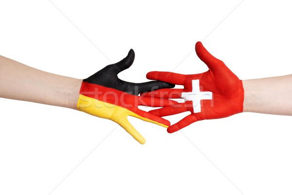 switzerland and germany in partnership Stock photo © Nelosa