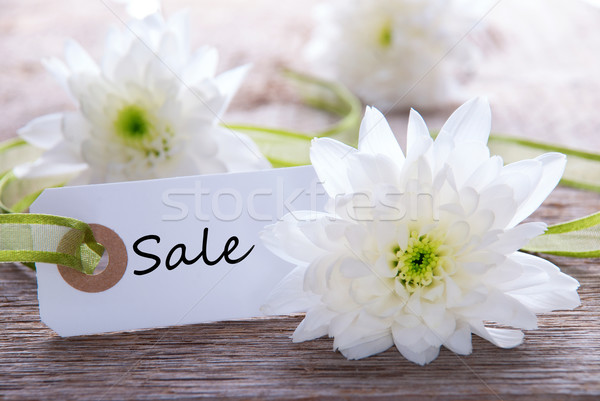 Flower Label with Sale Stock photo © Nelosa