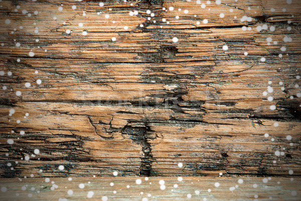 Snowy Wooden Background Stock photo © Nelosa