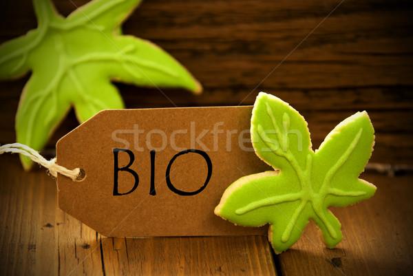 Brown Organic Label With German Text Bio Stock photo © Nelosa