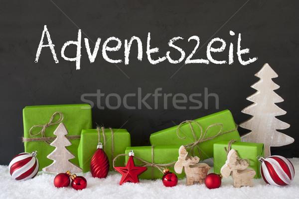 Weihnachten Dekoration Zement Schnee Aufkommen Jahreszeit Stock foto © Nelosa