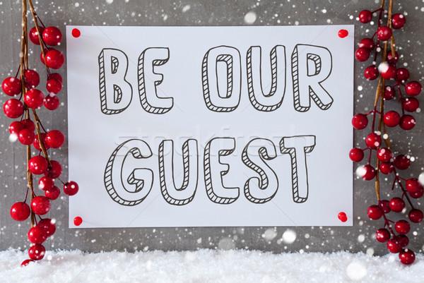 Label sneeuwvlokken christmas decoratie tekst gast Stockfoto © Nelosa