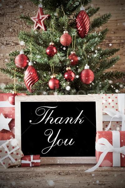 Сток-фото: ностальгический · рождественская · елка · спасибо