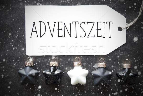 Negro Navidad advenimiento estaciones Foto stock © Nelosa